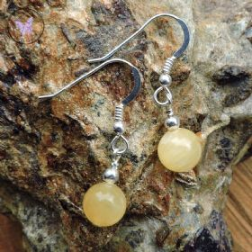 Aragonite Silver Earrings